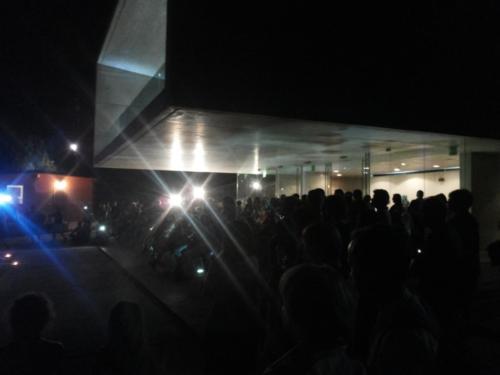 Cerimonia d'inaugurazione della Nuova Scuola Pitagorica 18/08/2016 la platea durante lo spettacolo