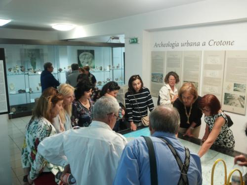 La delgazione di Samo a Crotone per il gemellaggio - visita al Museo 2