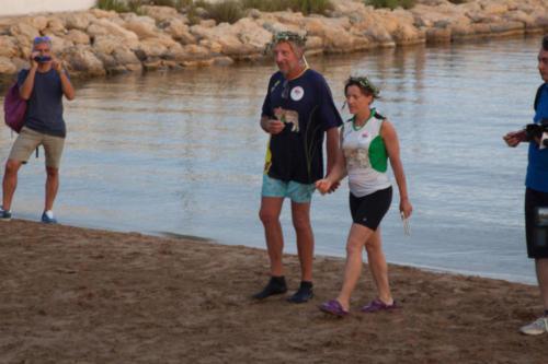 Francesco e Vanessa arrivati a Crotone in kayak